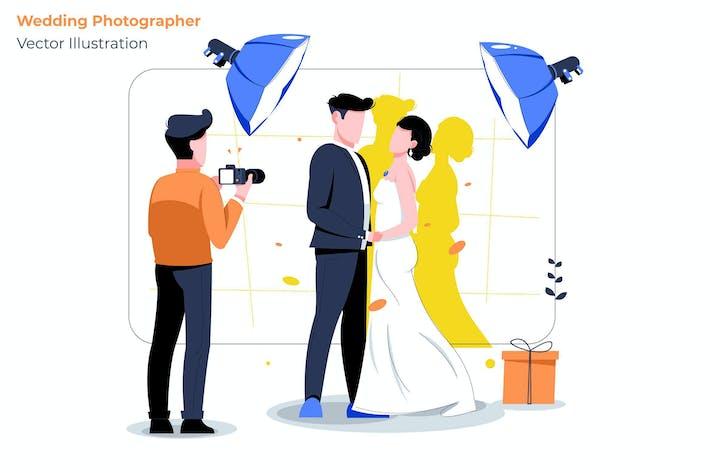 Wedding Photo - Vector Illustration
