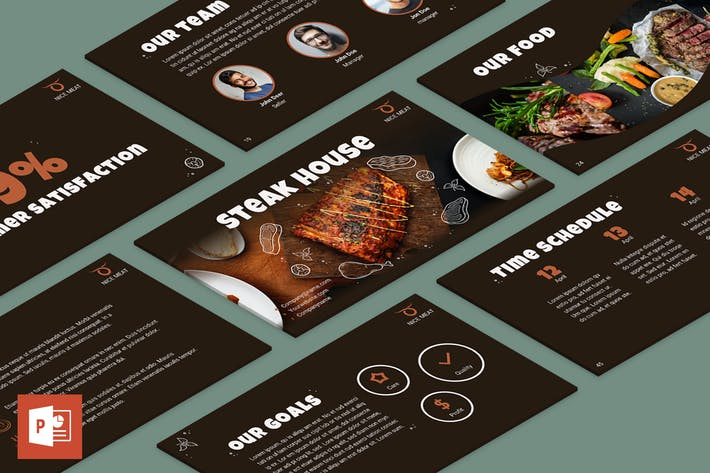 Thumbnail for Steak House PowerPoint Presentation Template