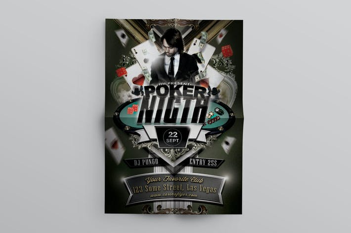 Thumbnail for Poker Night Flyer Template
