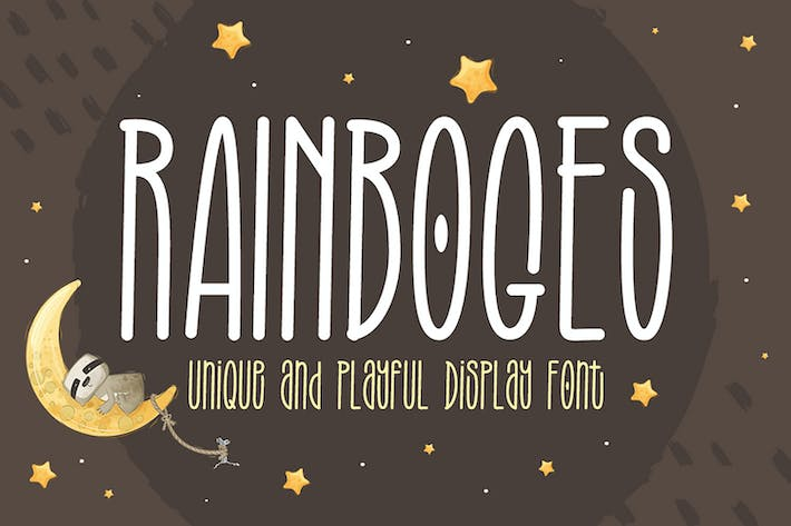 Thumbnail for Rainboges - Police d'affichage ludique
