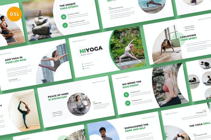 Hiyoga Yoga Class Google Slides Template