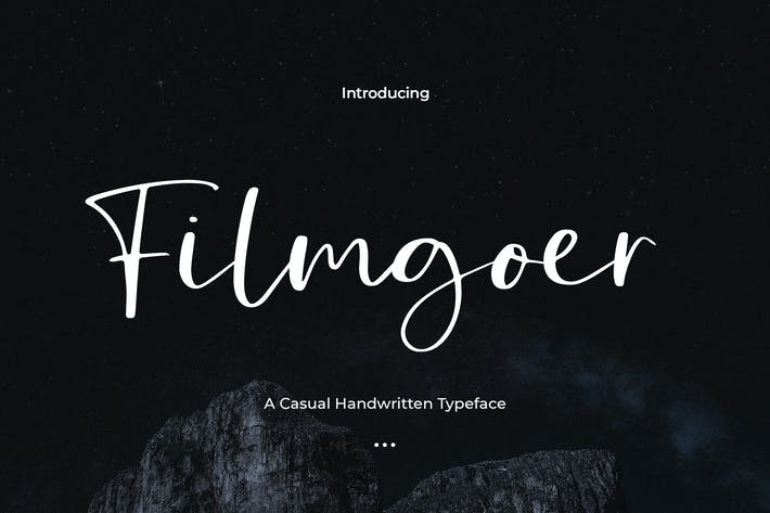 Thumbnail for Filmgoer - Handwritten Font