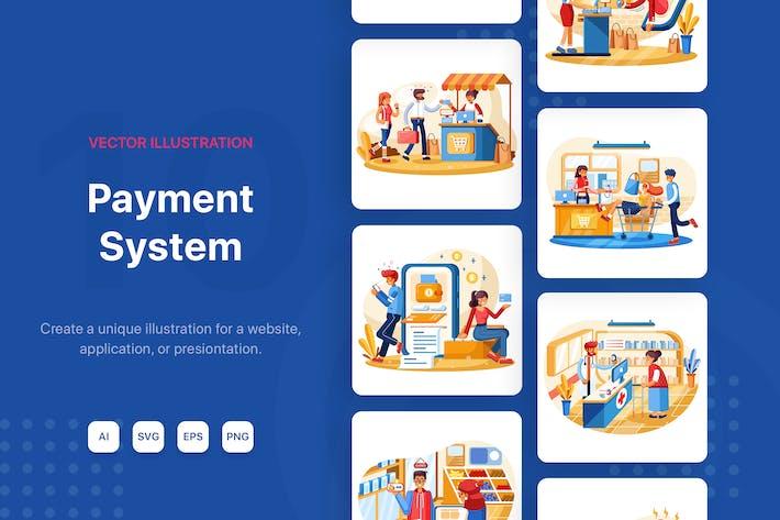 Illustrationen zum Zahlungssystem