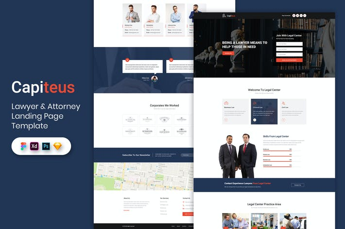 Thumbnail for Lawyer & Attorney - Landing Page Template
