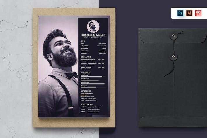 Thumbnail for Resume CV Template-100