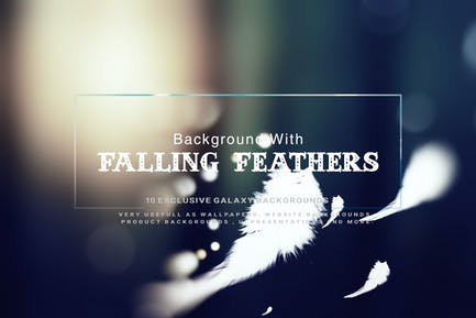 Background With Falling Feathers