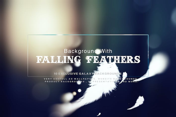Thumbnail for Background With Falling Feathers