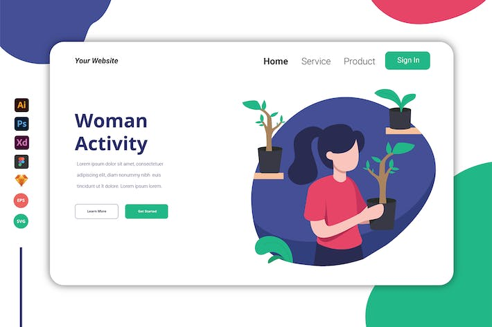 Thumbnail for Woman Activity -  Landing Page