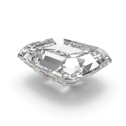 Diamant im Smaragdschliff