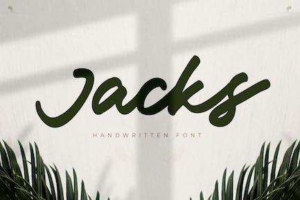 Jacks - Handwritten Font