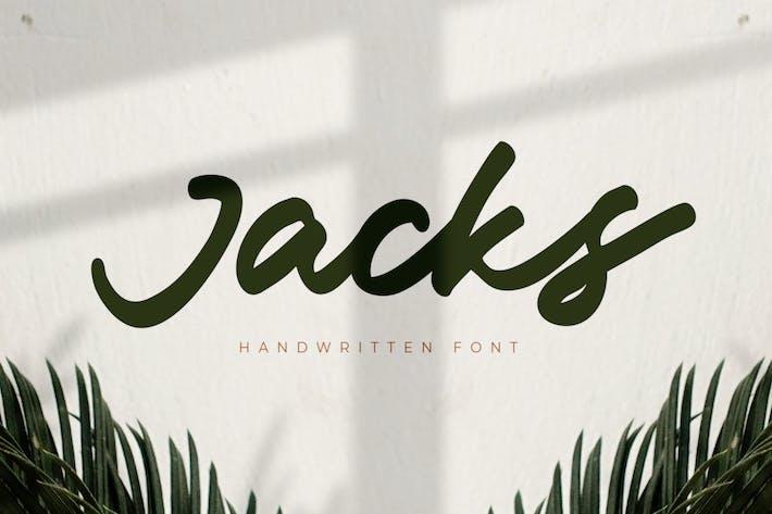 Jacks - Fuente manuscrita