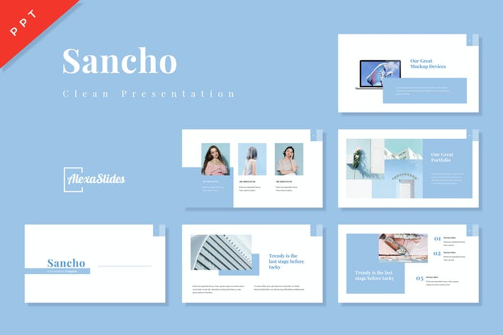 Thumbnail for Sancho - Clean Powerpoint Template