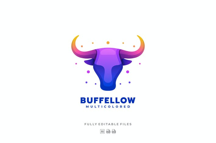Thumbnail for Bull Head Gradient Colorful Logo