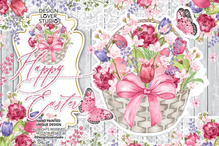 Thumbnail for Happy easter Rustic design