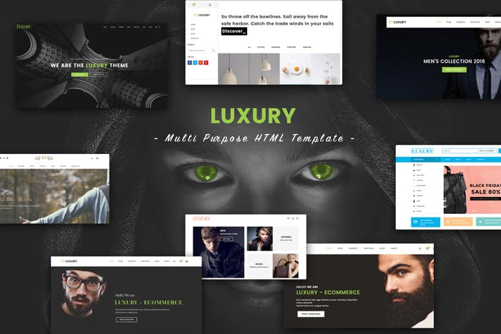 Thumbnail for Luxury - Multi Purpose HTML Template
