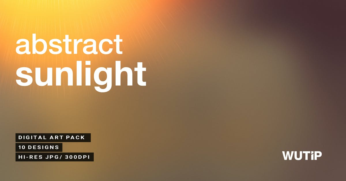 Abstract Sunlight Backgrounds by Wutip