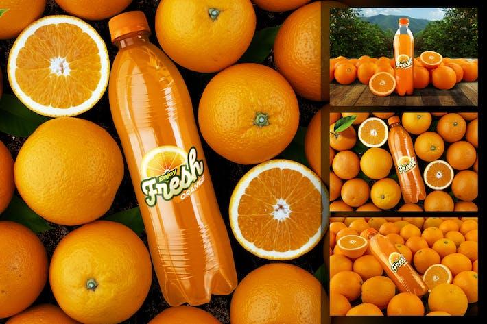 Thumbnail for Orange Soda Bottle Mockup