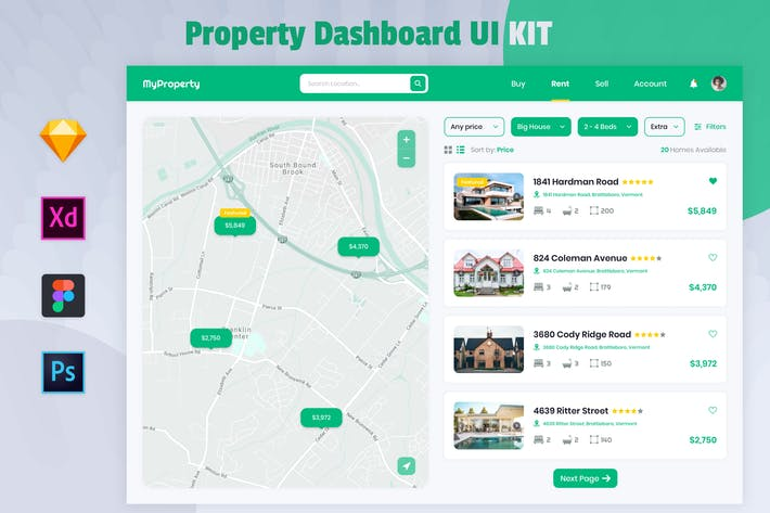 Real Estate Dashboard - Nuzie