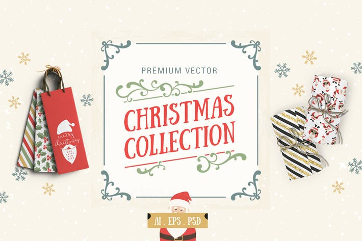 Cover Image For Premium Vector Christmas Collection
