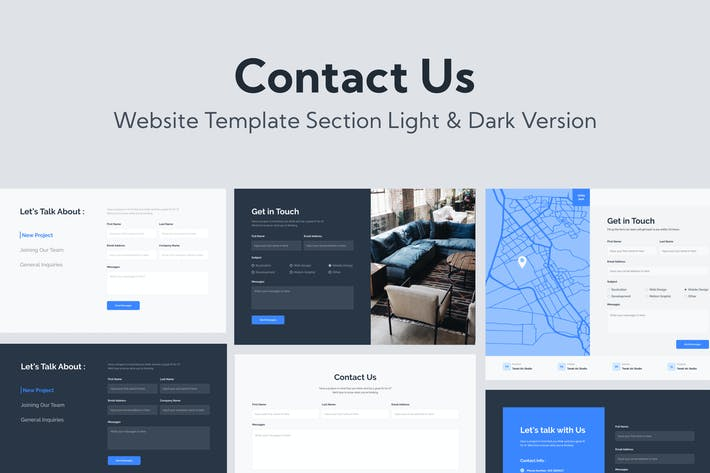 Thumbnail for Web Contact Us Template