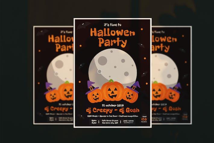 Thumbnail for Hallowen party flyer