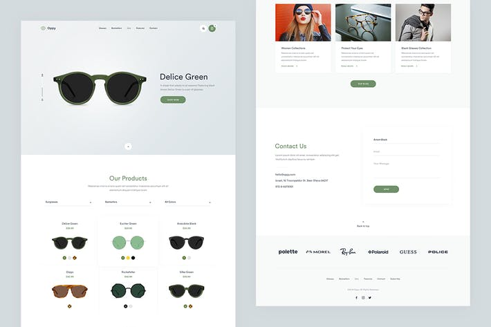 cover image for oppy store single page psd template