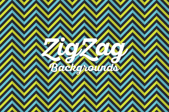 Thumbnail for Grunge Retro Zigzag Backgrounds