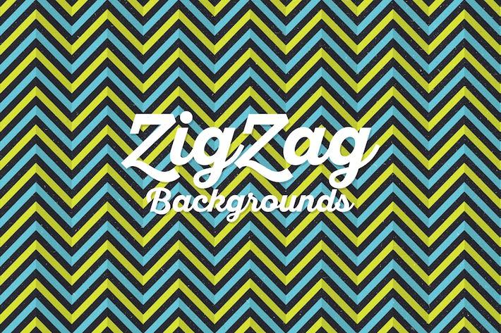 Thumbnail for Grunge Arrière-plans en zigzag rétro