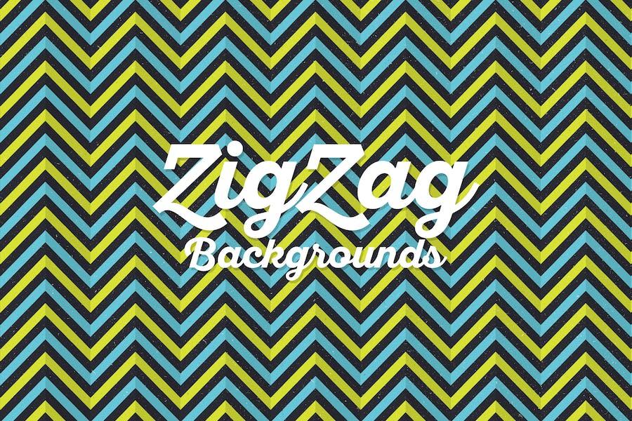 Grunge Retro Zigzag Backgrounds