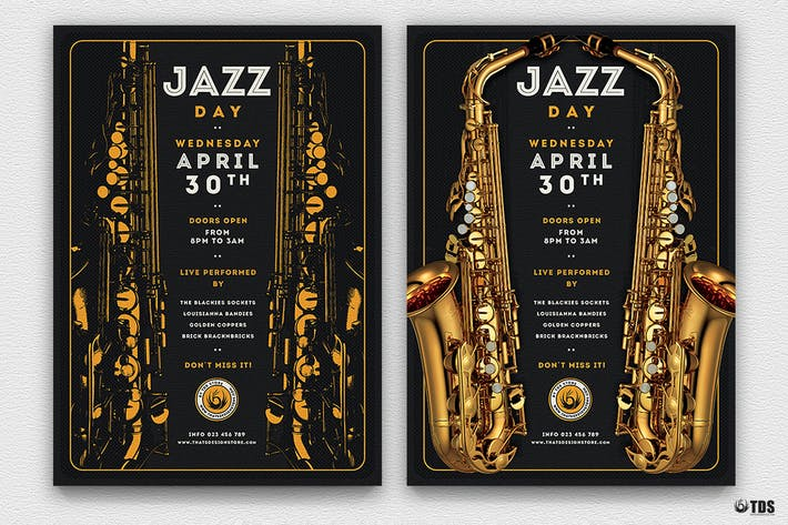 Thumbnail for Jazz Day Flyer Template V2