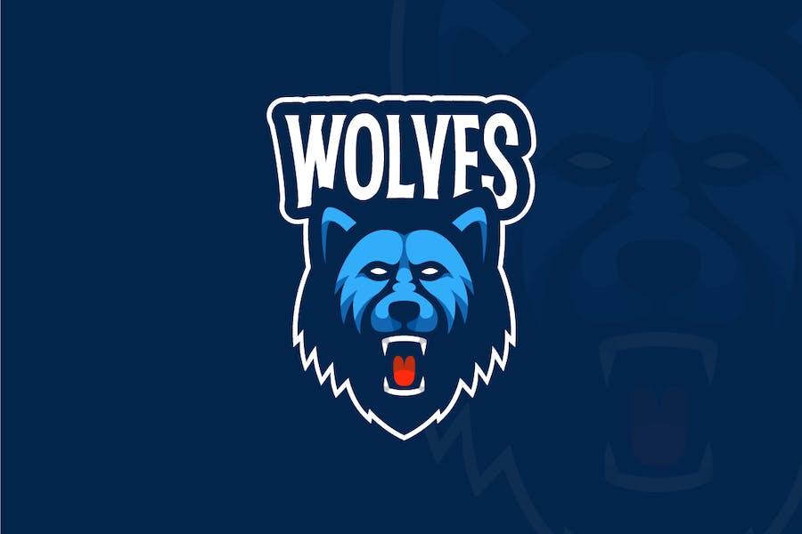 Angry Wolf Mascot Logo