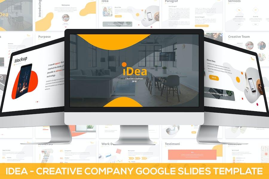 iDea - Creative Company Google Slides Template