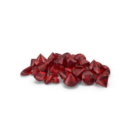 Kleiner Ruby Diamonds Haufen