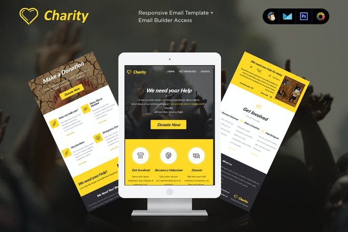 Charity Enewsletter Template By JeetuG On Envato Elements - How to make email newsletter templates