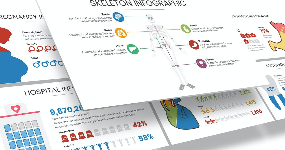 Download Medical & Health Infographic for Powerpoint by Unknow