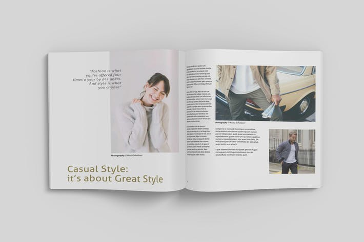 Thumbnail for Square Magazine Mockup V1