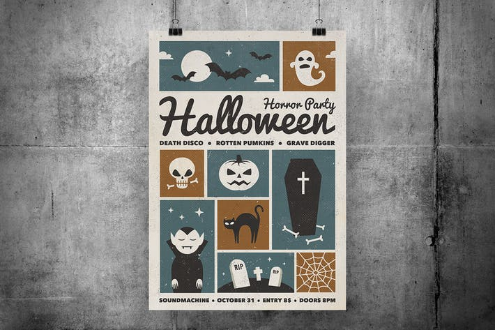Thumbnail for Retro Halloween Party Flyer