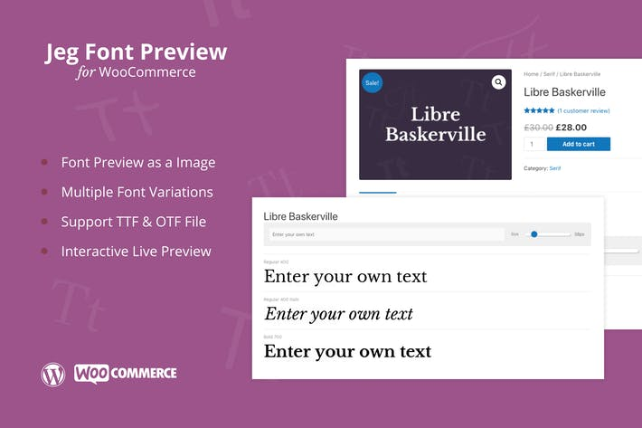 Thumbnail for Jeg Font Preview - WooCommerce Extension Plugin