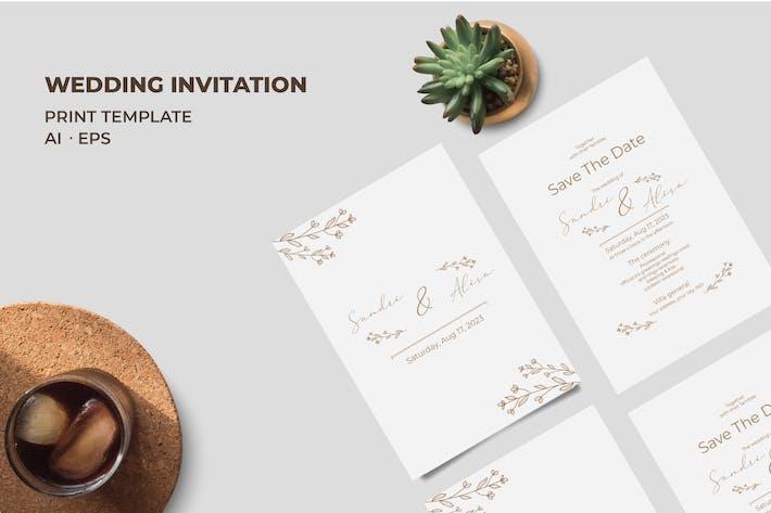 Thumbnail for Invitation de mariage QR14