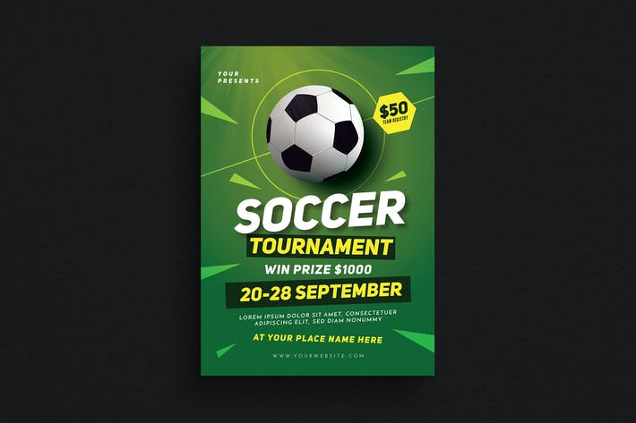 Thumbnail for Soccer Tournament Event Flyer