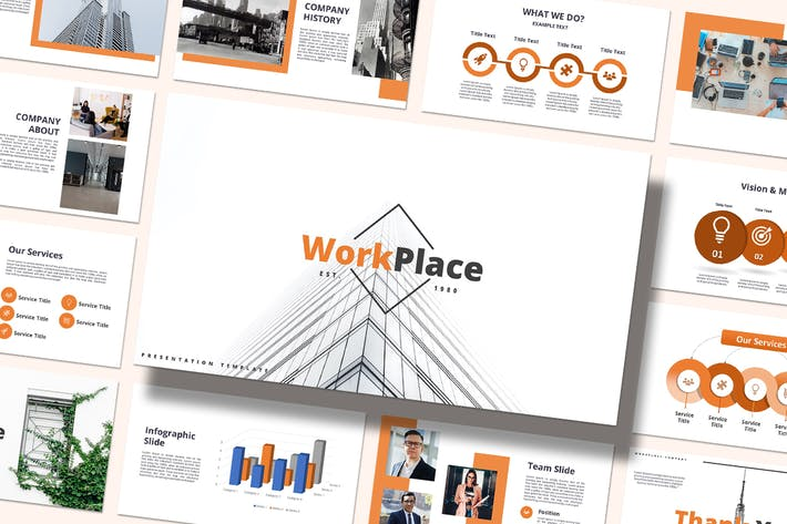 Thumbnail for Work Place - Powerpoint Template