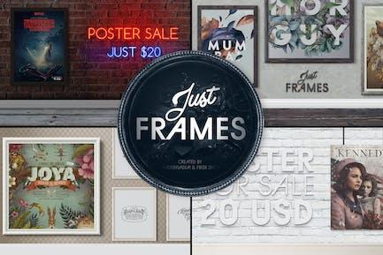 Just Frames - Drucke Mock-ups