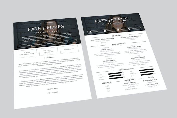 Thumbnail for Kate Content Resume Designer