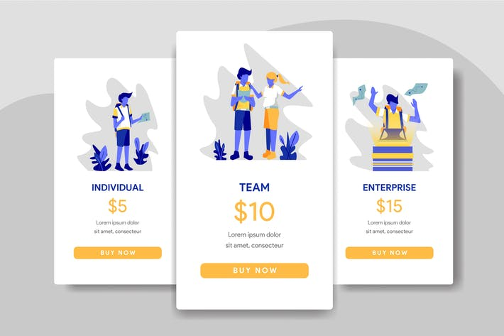 Thumbnail for Pricing Table Comparison with Travel Illustration