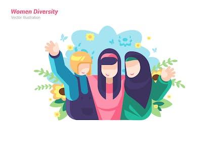 Women Diversity - Vector Illustration