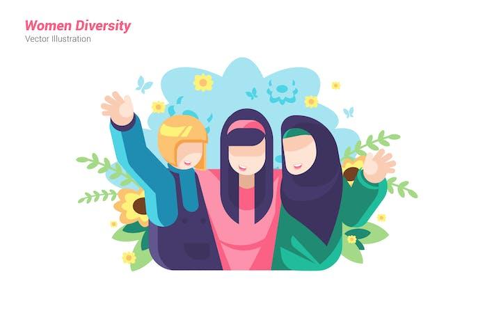 Thumbnail for Women Diversity - Vector Illustration