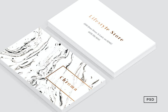 Thumbnail for White Marble + Copper Business Card