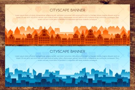 Horizontal Urban Landscapes Set