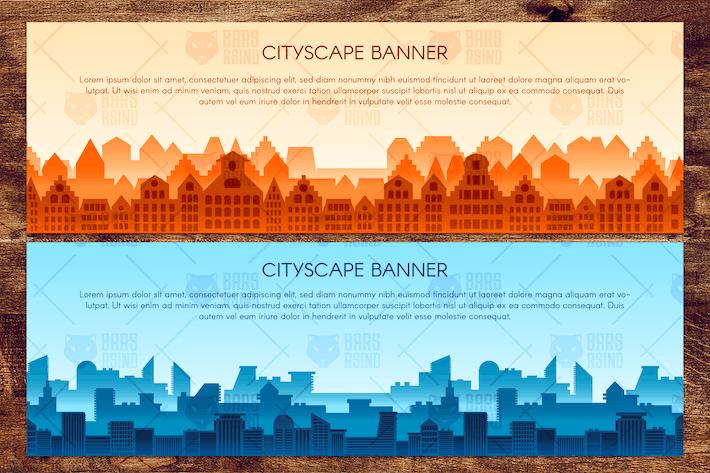 Thumbnail for Horizontal Urban Landscapes Set