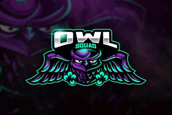 Thumbnail for Owl Squad - Mascot & Esport Logo